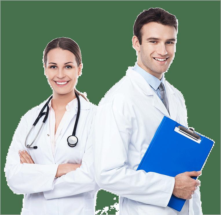 Para lekarzy kobieta imężczyzna